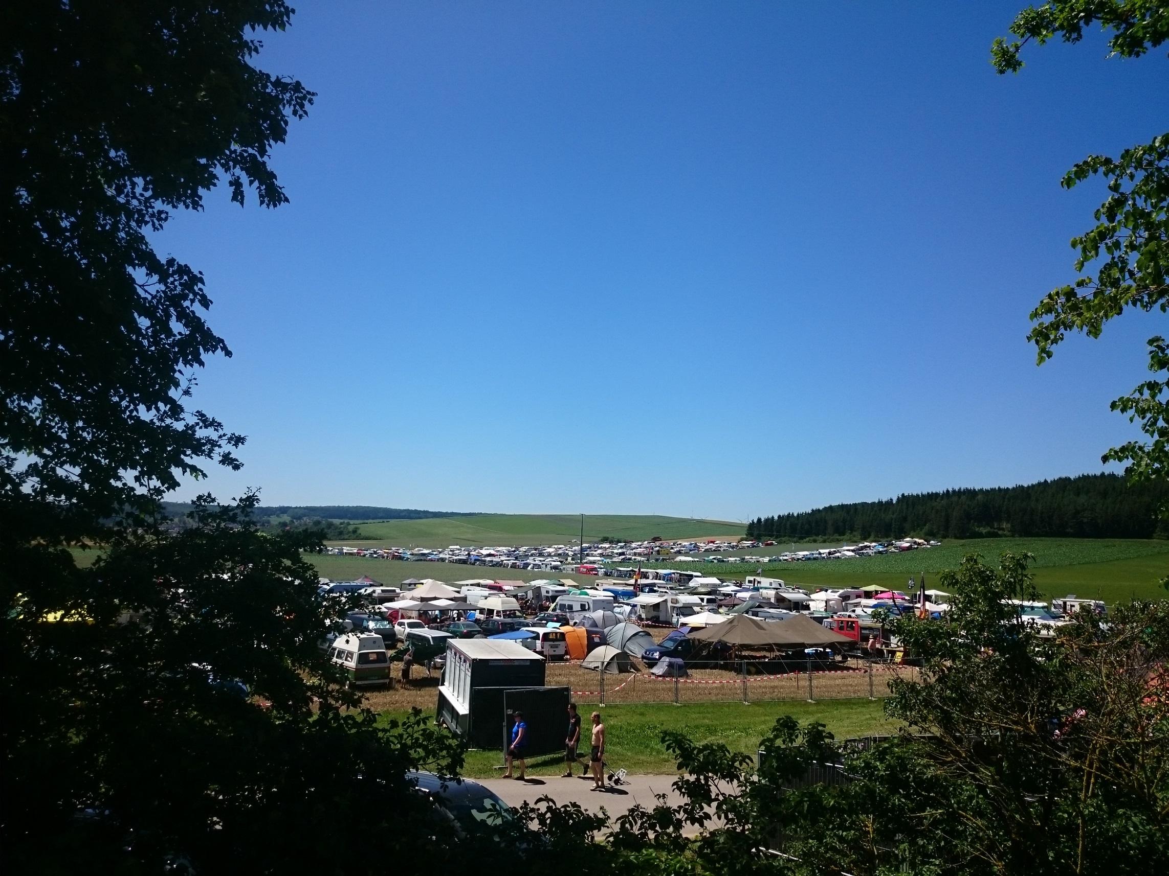 Blick auf das Campinggelände...