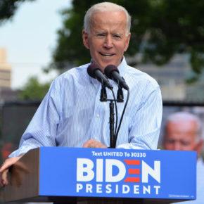 Der demokratische Präsidentschaftskandidat Joe Biden bei einer Wahlkampfveranstaltung